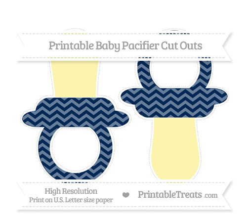 Free Navy Blue Chevron Large Baby Pacifier Cut Outs