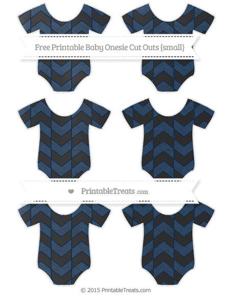 Free Navy Blue Herringbone Pattern Chalk Style Small Baby Onesie Cut Outs
