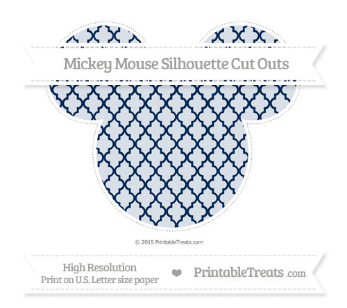 Free Navy Blue Moroccan Tile Extra Large Mickey Mouse Silhouette Cut Outs