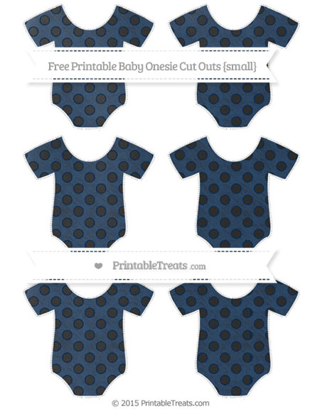 Free Navy Blue Polka Dot Chalk Style Small Baby Onesie Cut Outs