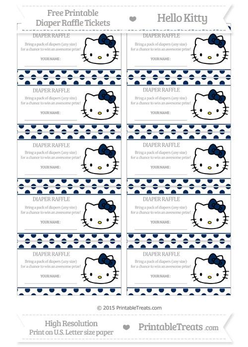 Free Navy Blue Polka Dot Hello Kitty Diaper Raffle Tickets