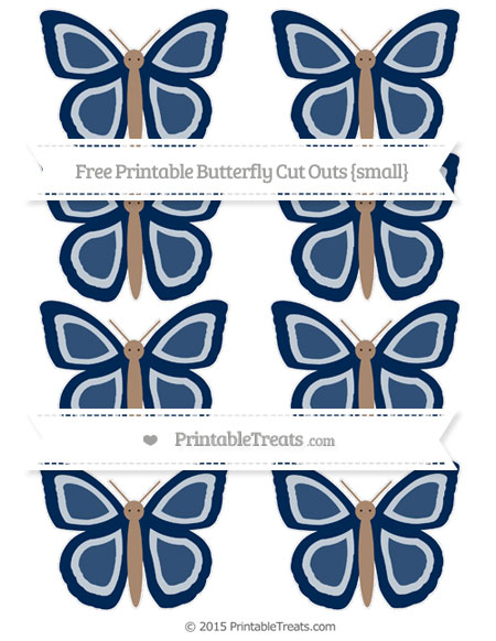 Free Navy Blue Small Butterfly Cut Outs