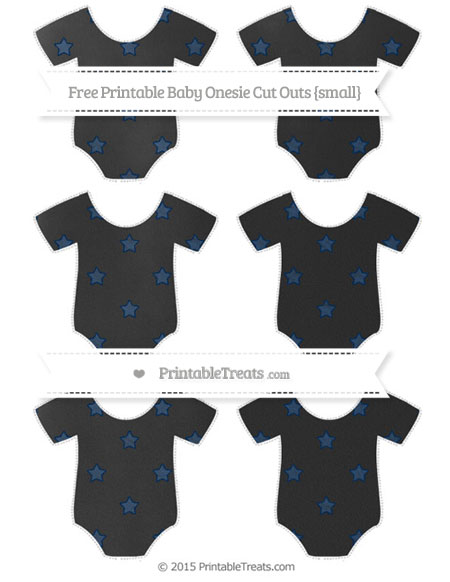 Free Navy Blue Star Pattern Chalk Style Small Baby Onesie Cut Outs
