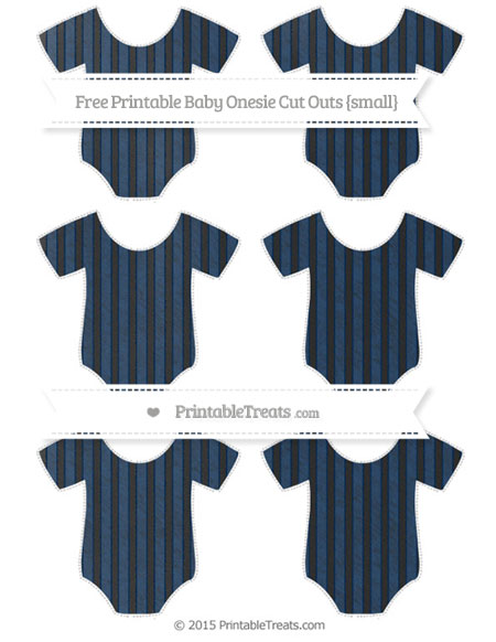 Free Navy Blue Thin Striped Pattern Chalk Style Small Baby Onesie Cut Outs