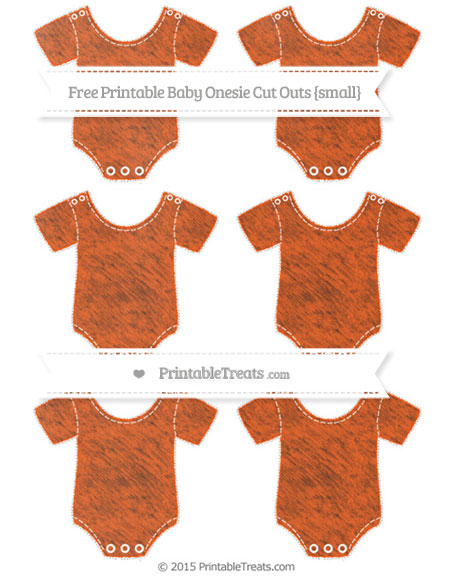 Free Orange Chalk Style Small Baby Onesie Cut Outs