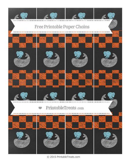 Free Orange Checker Pattern Chalk Style Whale Paper Chains