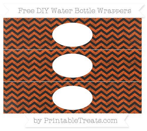 Free Orange Chevron Chalk Style DIY Water Bottle Wrappers