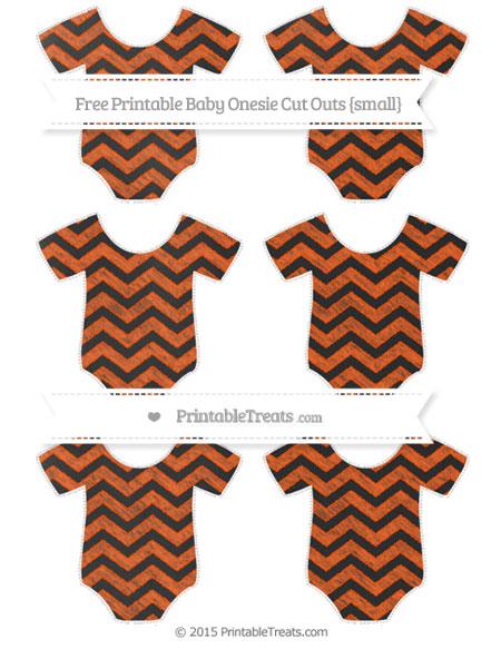 Free Orange Chevron Chalk Style Small Baby Onesie Cut Outs
