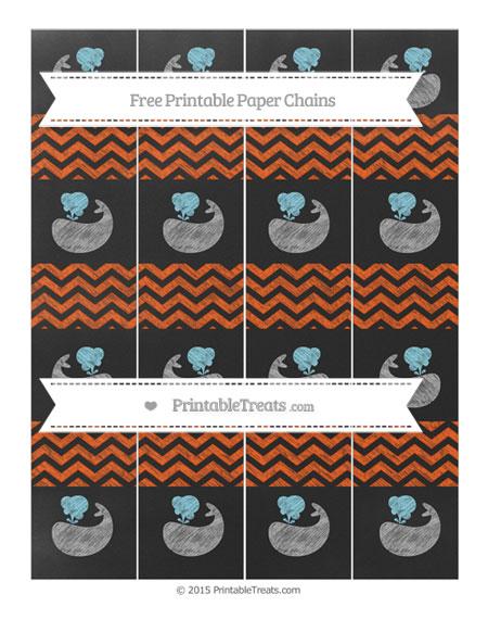 Free Orange Chevron Chalk Style Whale Paper Chains