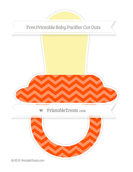 Free Orange Chevron Extra Large Baby Pacifier Cut Outs