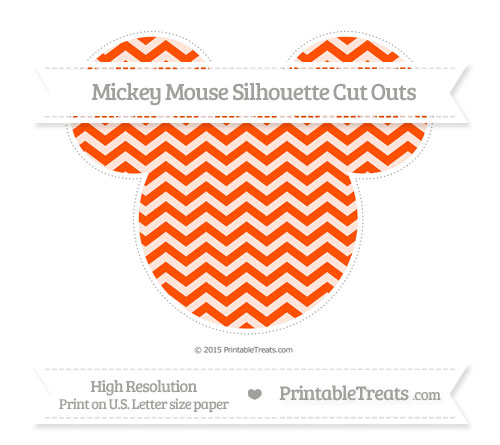 Free Orange Chevron Extra Large Mickey Mouse Silhouette Cut Outs