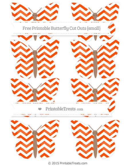 Free Orange Chevron Small Butterfly Cut Outs