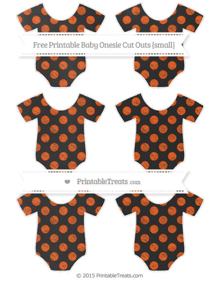 Free Orange Dotted Pattern Chalk Style Small Baby Onesie Cut Outs
