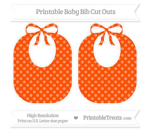 Free Orange Dotted Pattern Large Baby Bib Cut Outs