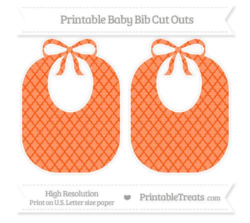 Free Orange Moroccan Tile Large Baby Bib Cut Outs