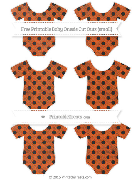 Free Orange Polka Dot Chalk Style Small Baby Onesie Cut Outs