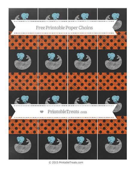 Free Orange Polka Dot Chalk Style Whale Paper Chains