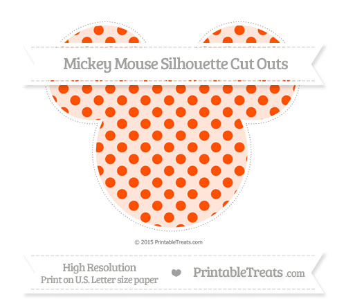 Free Orange Polka Dot Extra Large Mickey Mouse Silhouette Cut Outs
