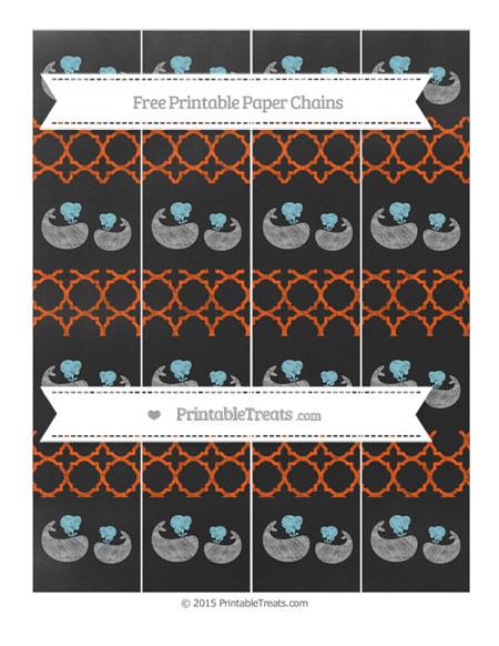 Free Orange Quatrefoil Pattern Chalk Style Baby Whale Paper Chains