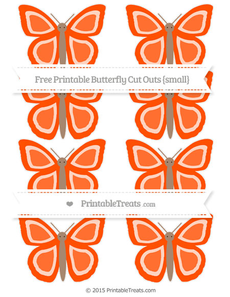 Free Orange Small Butterfly Cut Outs