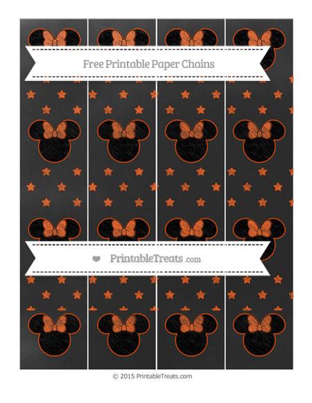 Free Orange Star Pattern Chalk Style Minnie Mouse Paper Chains