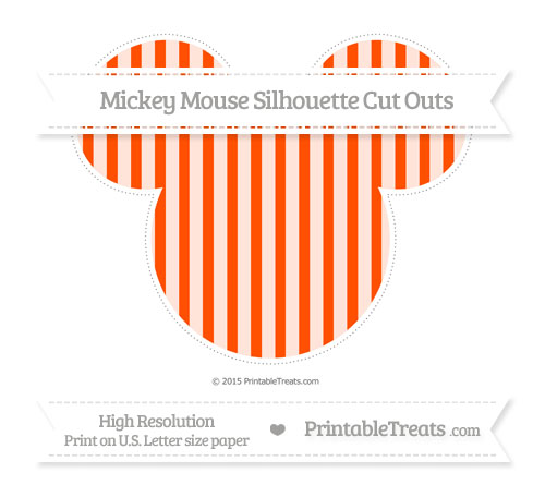 Free Orange Striped Extra Large Mickey Mouse Silhouette Cut Outs