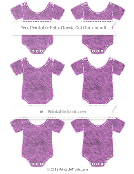 Free Orchid Chalk Style Small Baby Onesie Cut Outs