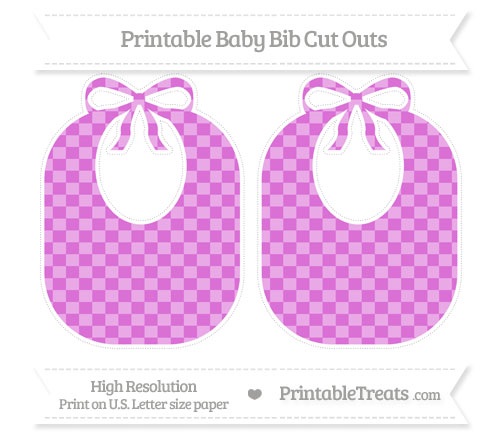 Free Orchid Checker Pattern Large Baby Bib Cut Outs