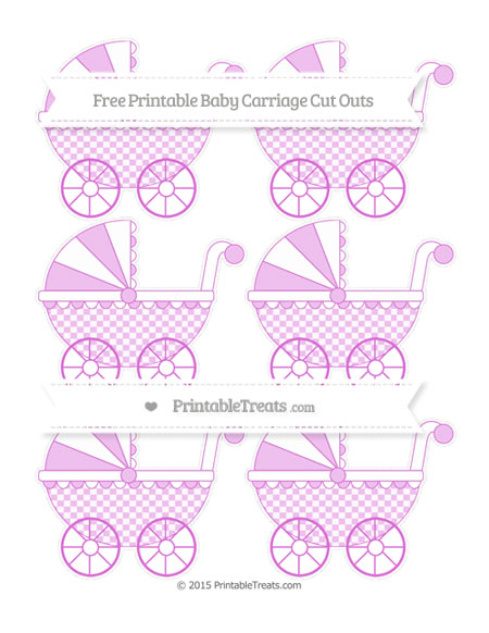 Free Orchid Checker Pattern Small Baby Carriage Cut Outs