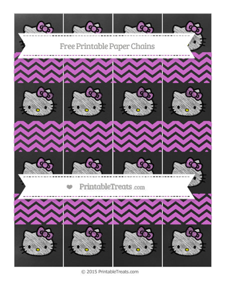 Free Orchid Chevron Chalk Style Hello Kitty Paper Chains
