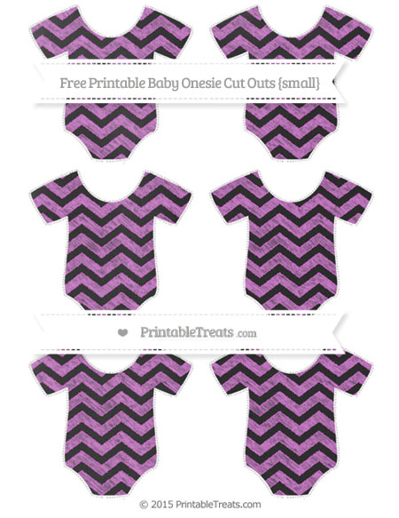 Free Orchid Chevron Chalk Style Small Baby Onesie Cut Outs