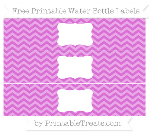 Free Orchid Chevron Water Bottle Labels