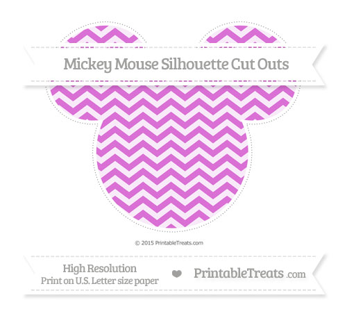 Free Orchid Chevron Extra Large Mickey Mouse Silhouette Cut Outs