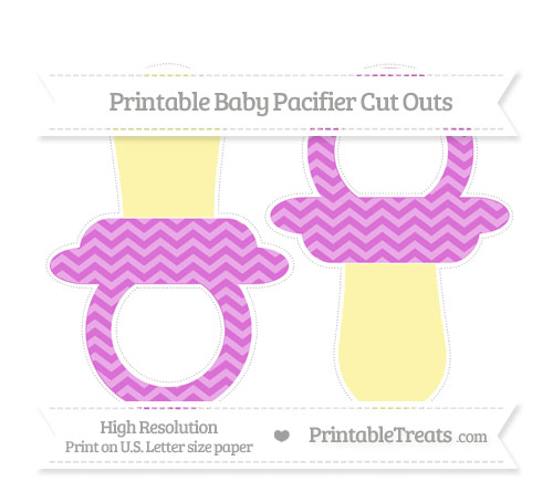 Free Orchid Chevron Large Baby Pacifier Cut Outs