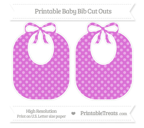 Free Orchid Dotted Pattern Large Baby Bib Cut Outs