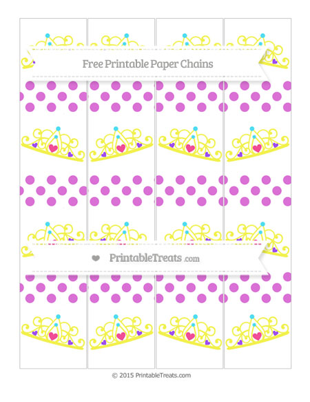 Free Orchid Dotted Pattern Princess Tiara Paper Chains