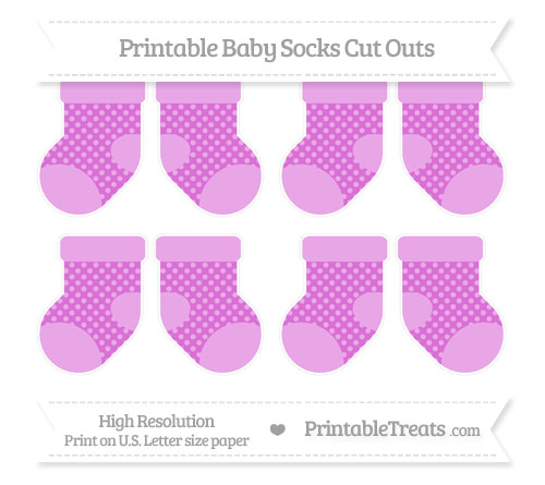 Free Orchid Dotted Pattern Small Baby Socks Cut Outs