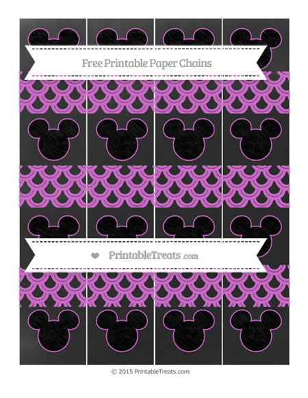 Free Orchid Fish Scale Pattern Chalk Style Mickey Mouse Paper Chains