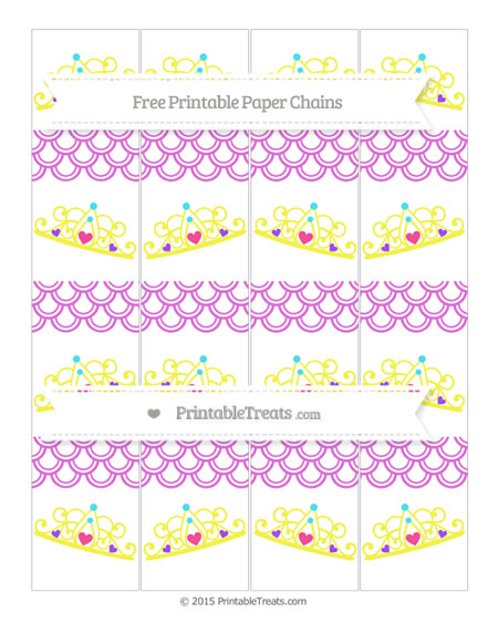 Free Orchid Fish Scale Pattern Princess Tiara Paper Chains