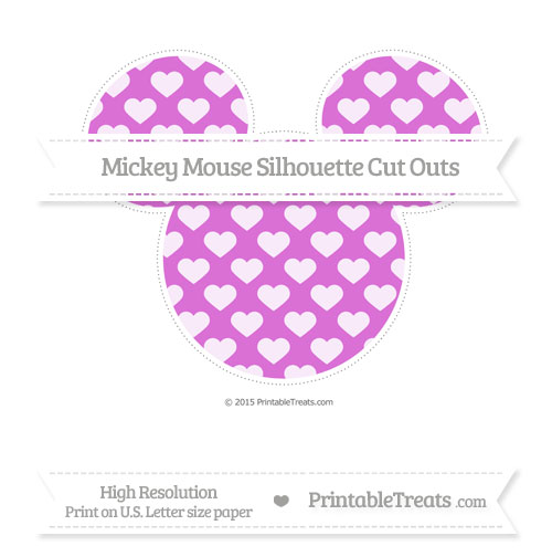 Free Orchid Heart Pattern Extra Large Mickey Mouse Silhouette Cut Outs