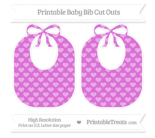 Free Orchid Heart Pattern Large Baby Bib Cut Outs