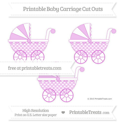 Free Orchid Heart Pattern Medium Baby Carriage Cut Outs