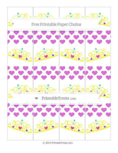 Free Orchid Heart Pattern Princess Tiara Paper Chains