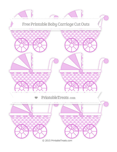 Free Orchid Heart Pattern Small Baby Carriage Cut Outs