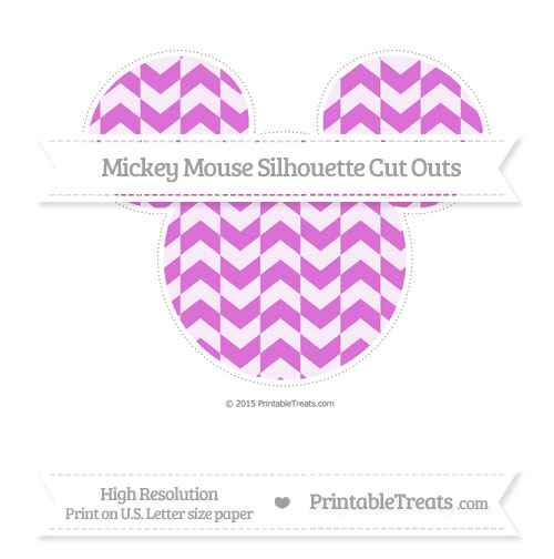 Free Orchid Herringbone Pattern Extra Large Mickey Mouse Silhouette Cut Outs