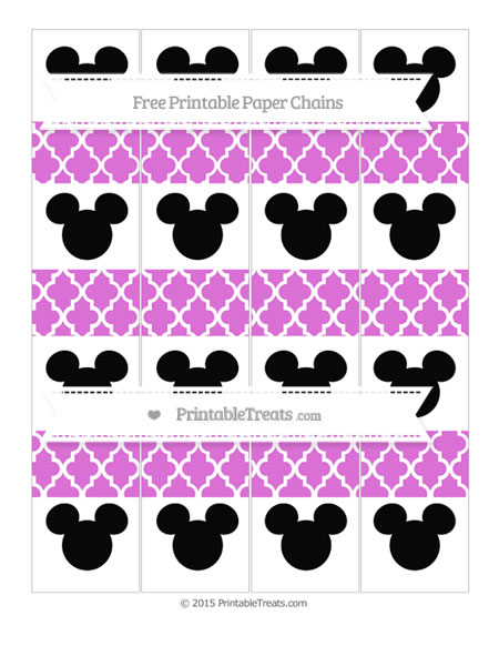 Free Orchid Moroccan Tile Mickey Mouse Paper Chains