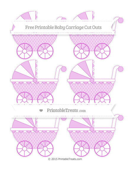Free Orchid Moroccan Tile Small Baby Carriage Cut Outs