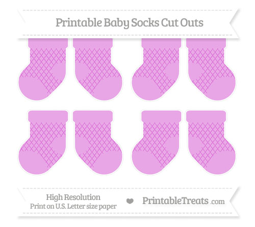 Free Orchid Moroccan Tile Small Baby Socks Cut Outs