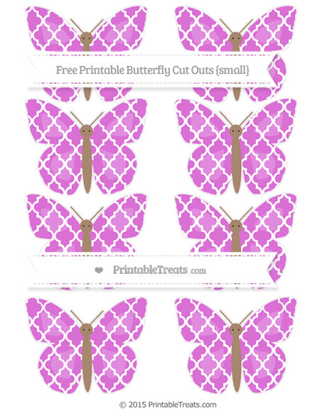 Free Orchid Moroccan Tile Small Butterfly Cut Outs