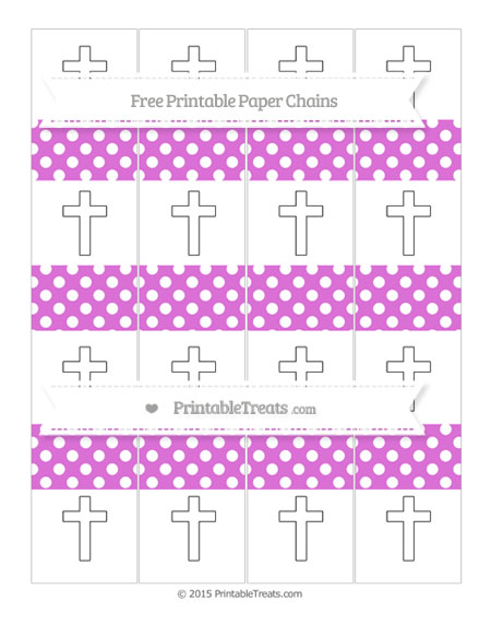 Free Orchid Polka Dot Cross Paper Chains